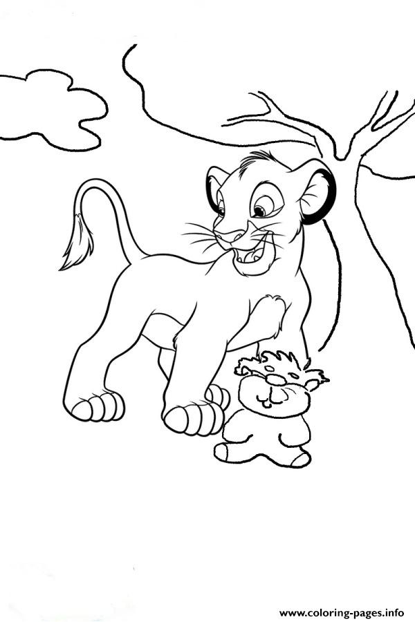 Simba And A Doll 5d1c coloring pages