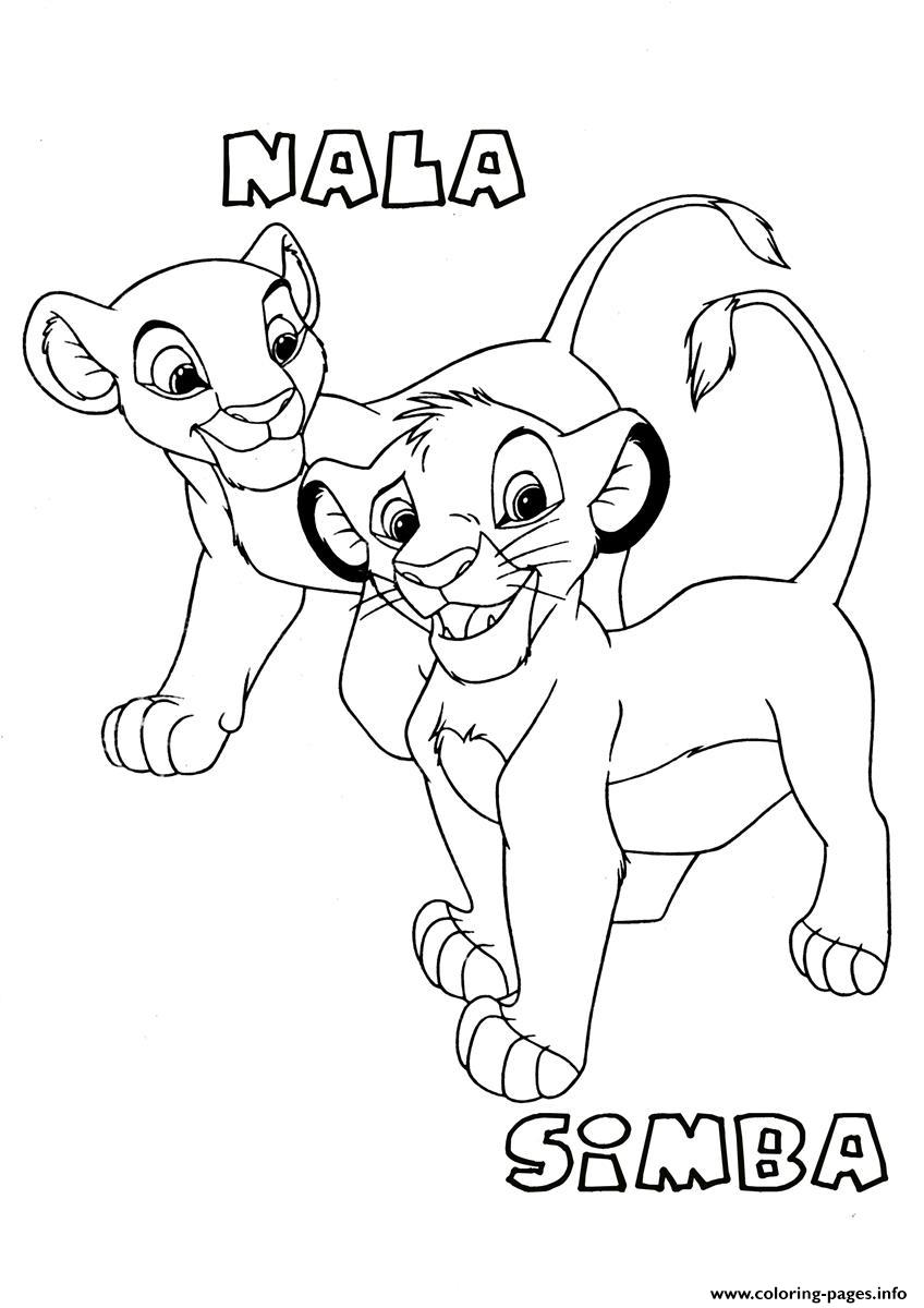 for kids lion king simba and nala3d97 Coloring pages Printable