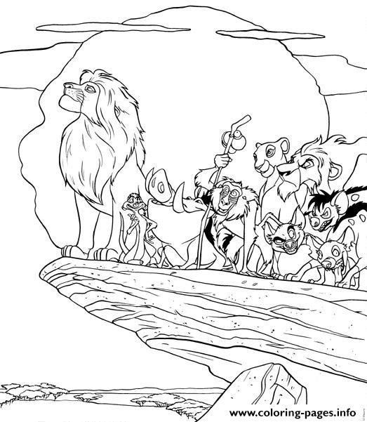 All Lion King Characters 11d8 Coloring Pages