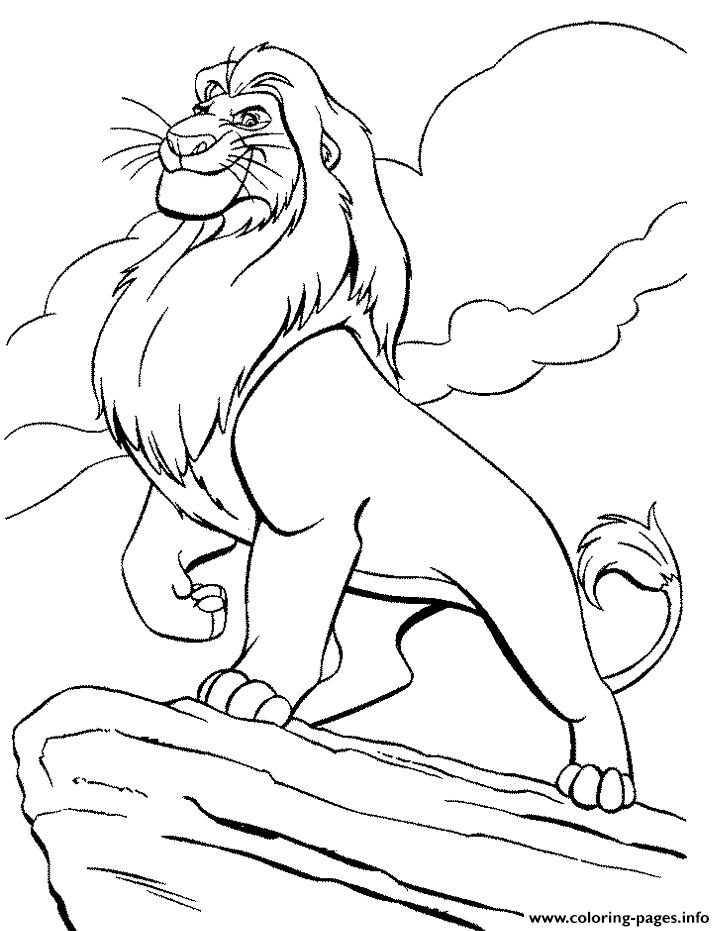 King Mufasa S For Kids Lion King5cf8 Coloring Pages Printable
