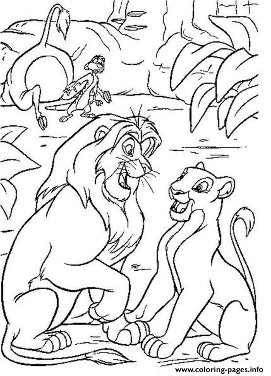 Lion King Young Couple 41d2 coloring pages