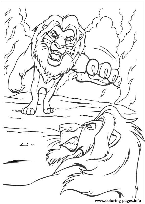 Scar Attacks Mufasa C4bc coloring pages