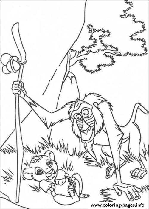 Rafiki And Simba 5e8b Coloring Pages Printable