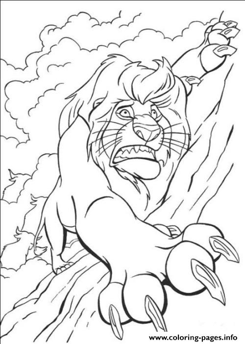 Scar Falling From Cliff 432e coloring pages