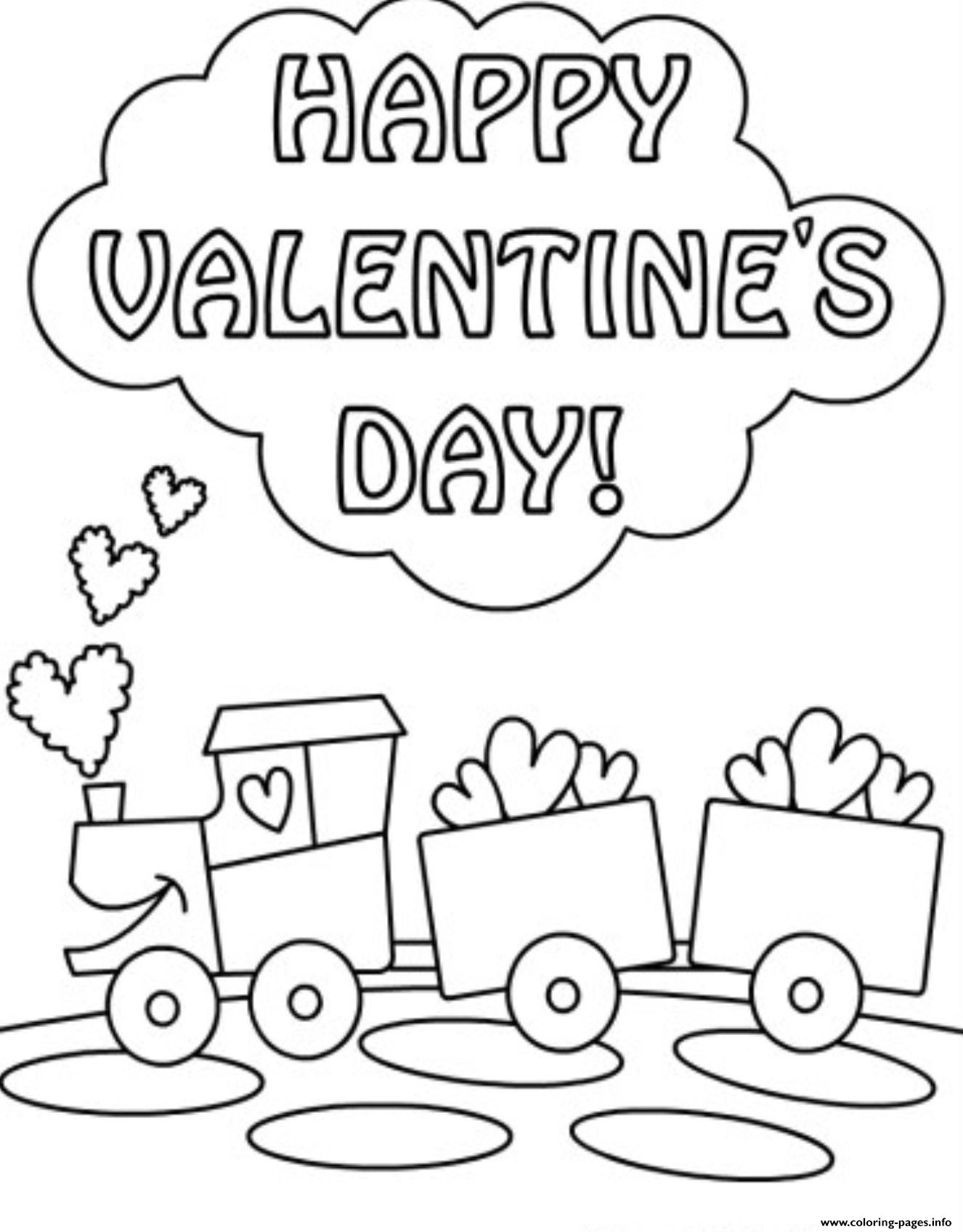 Choco Train Valentine Sd69c coloring pages