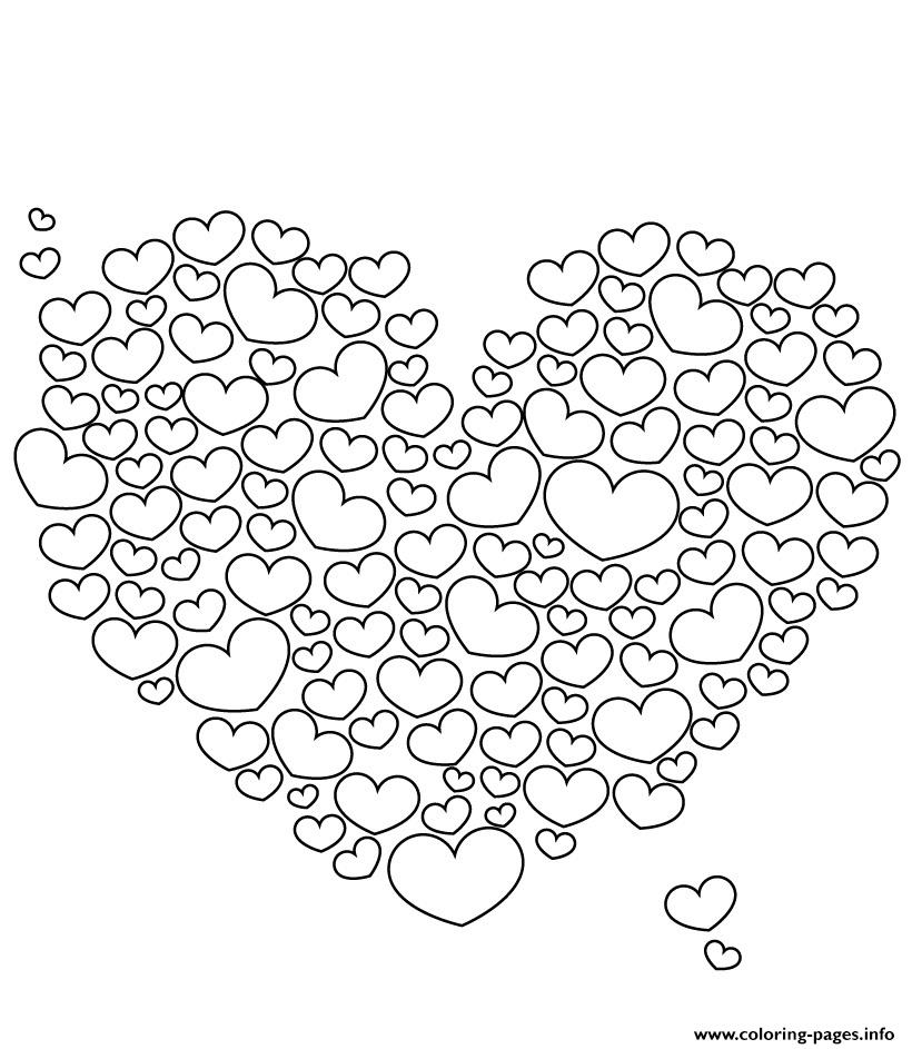 Lots Of Love Valentine Sf6f6 coloring pages