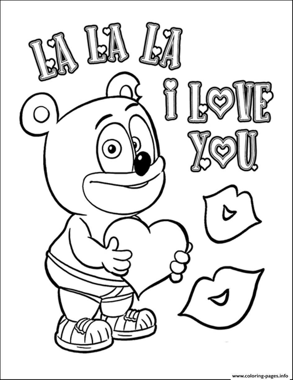 I Love You Valentines Day S148f coloring pages