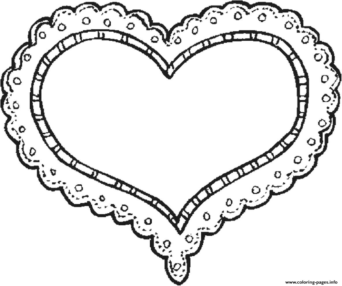 Sweet Heart Valentine Ec03 Coloring Pages Printable