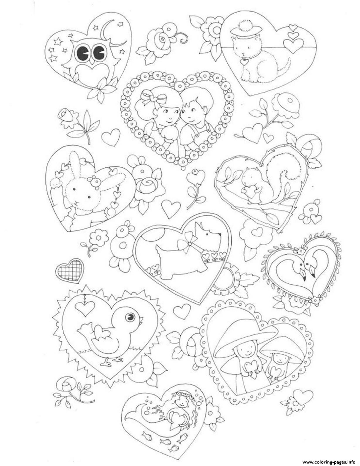 Valentine For Kids38ed Coloring Pages Printable