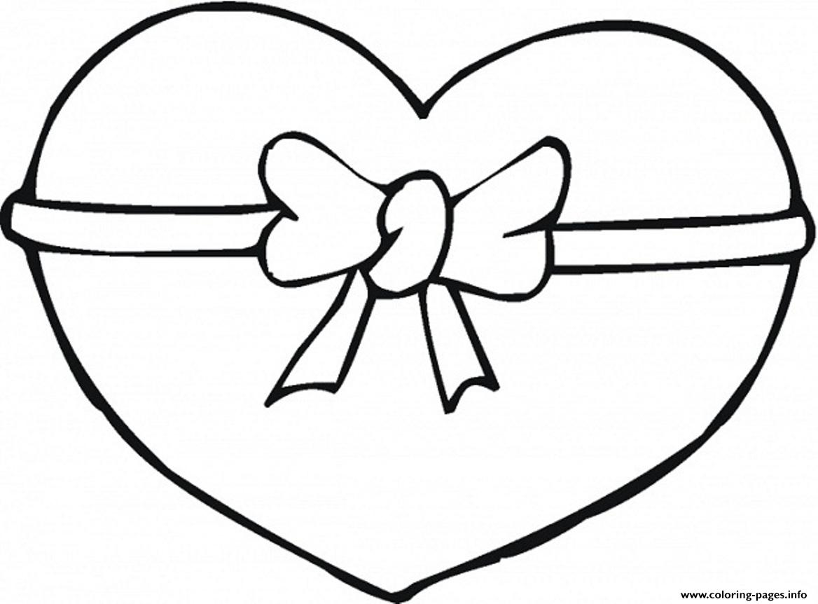 Ribbon Heart Valentine S2f39 Coloring Pages Printable