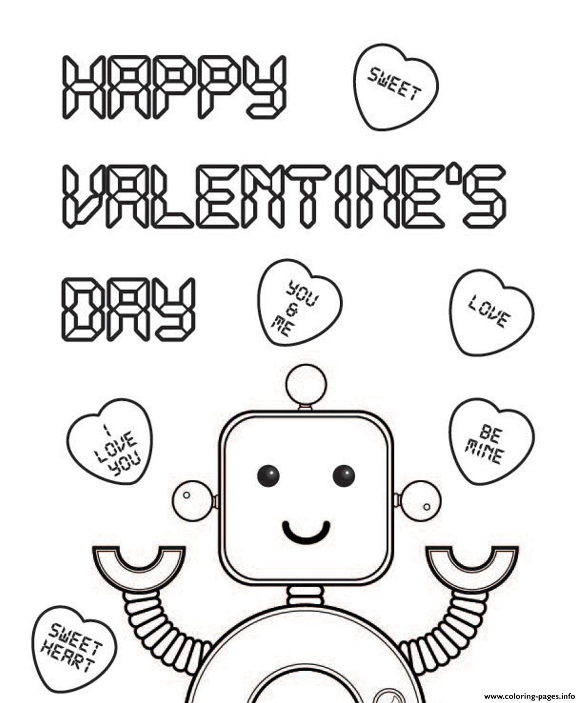 Robo Valentines S7e83 coloring pages