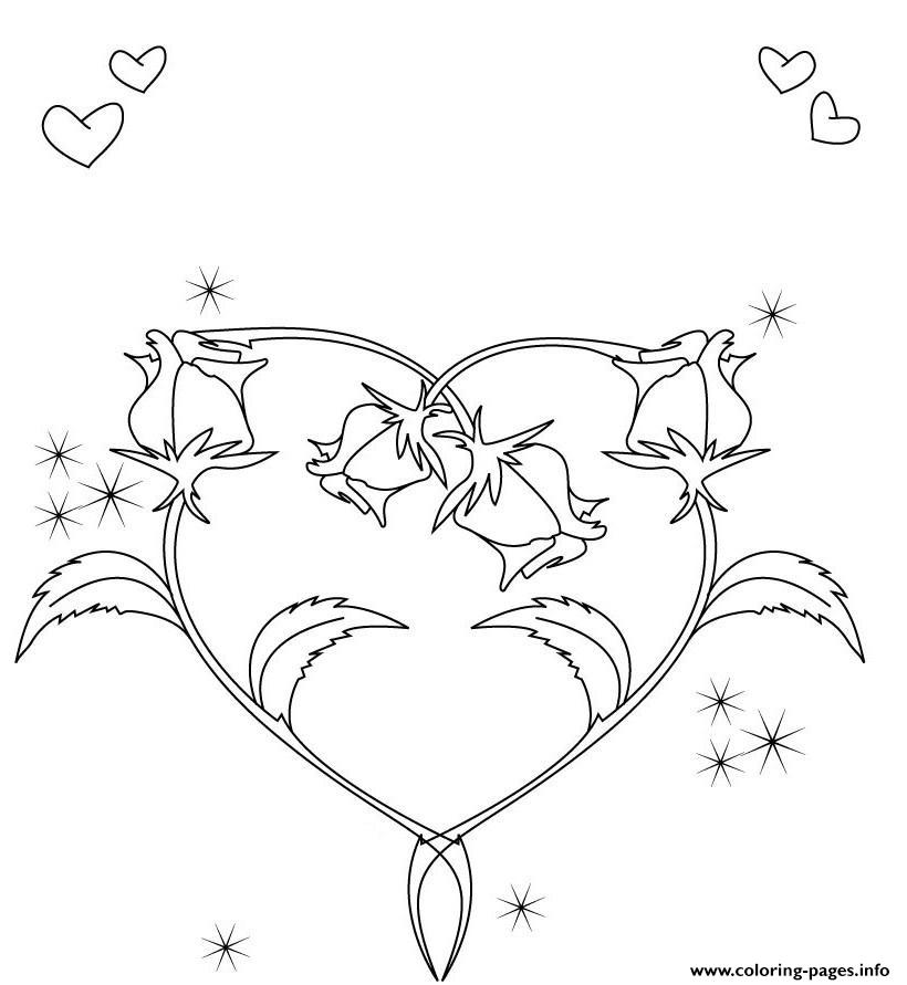 Heart Shape Coloring Page. heart shaped snowflakes coloring page ... | 891x820