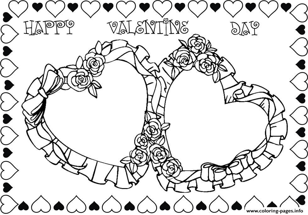 Roses Valentines Day S512e coloring pages