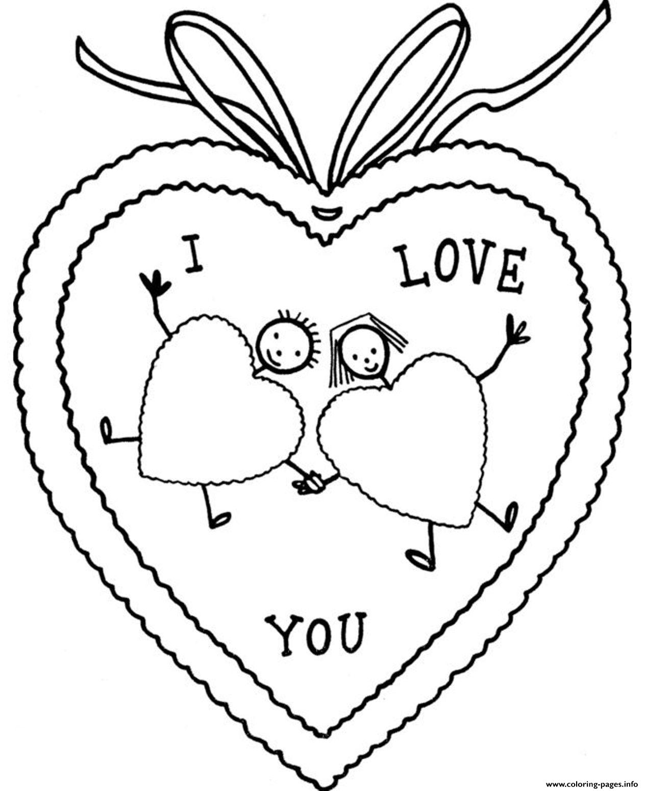Valentines Day S I Love You8c37 Coloring Pages Printable