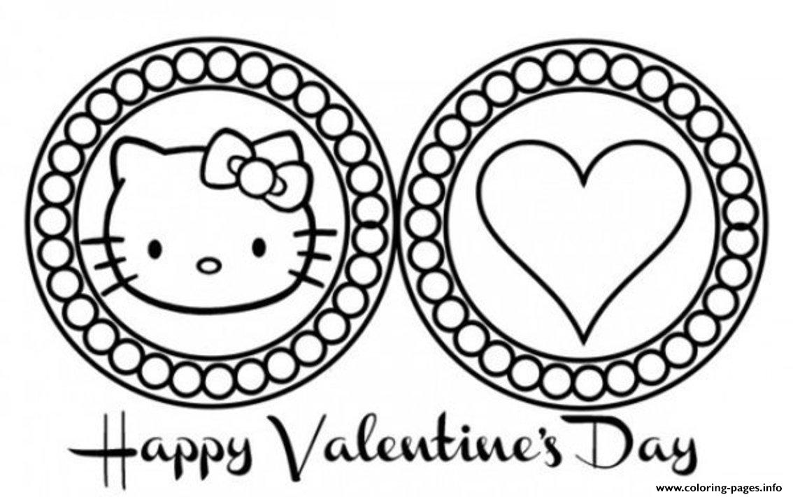 Cute Hello Kitty Valentines Day Scb28 coloring pages