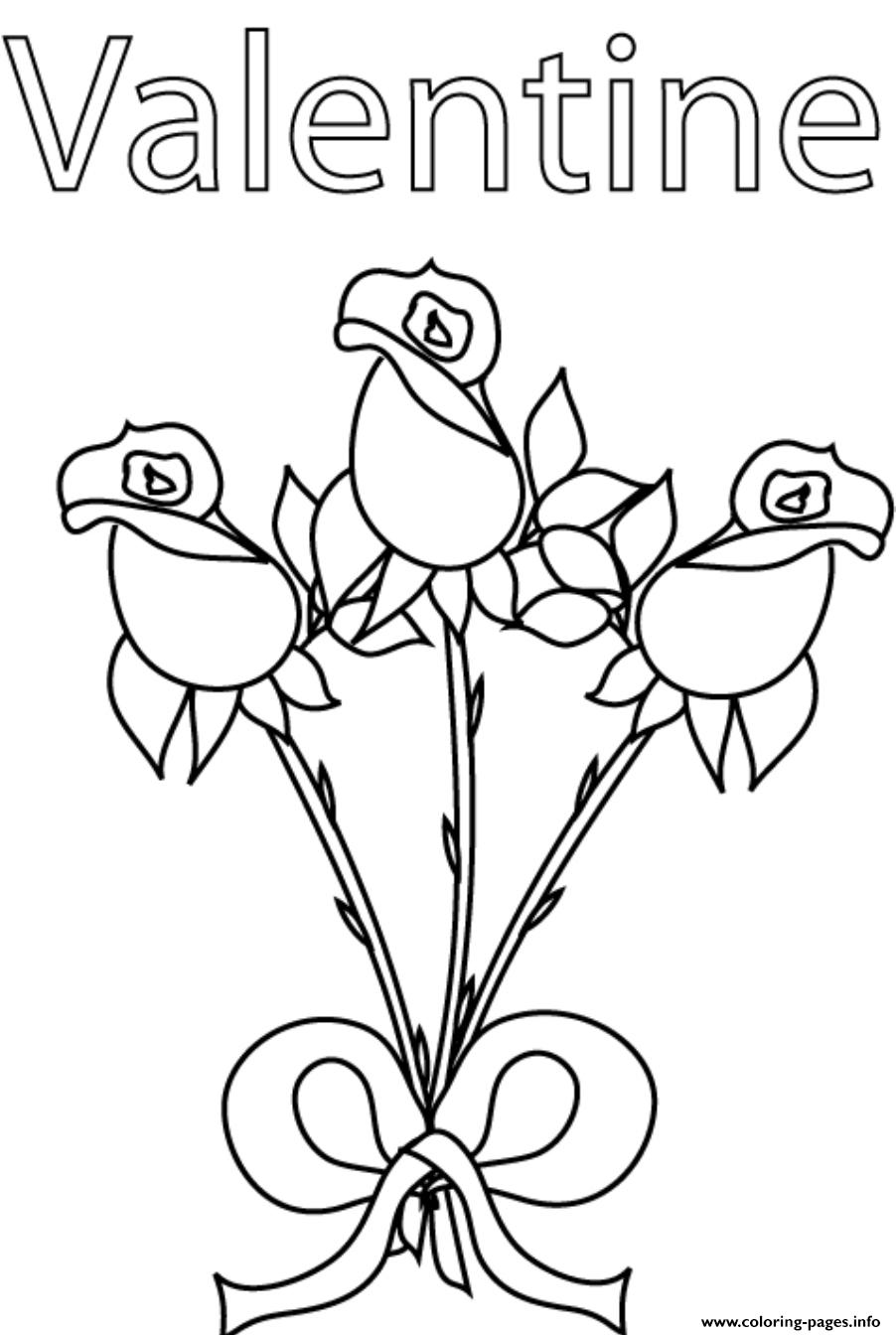 Roses Valentine S302a coloring pages