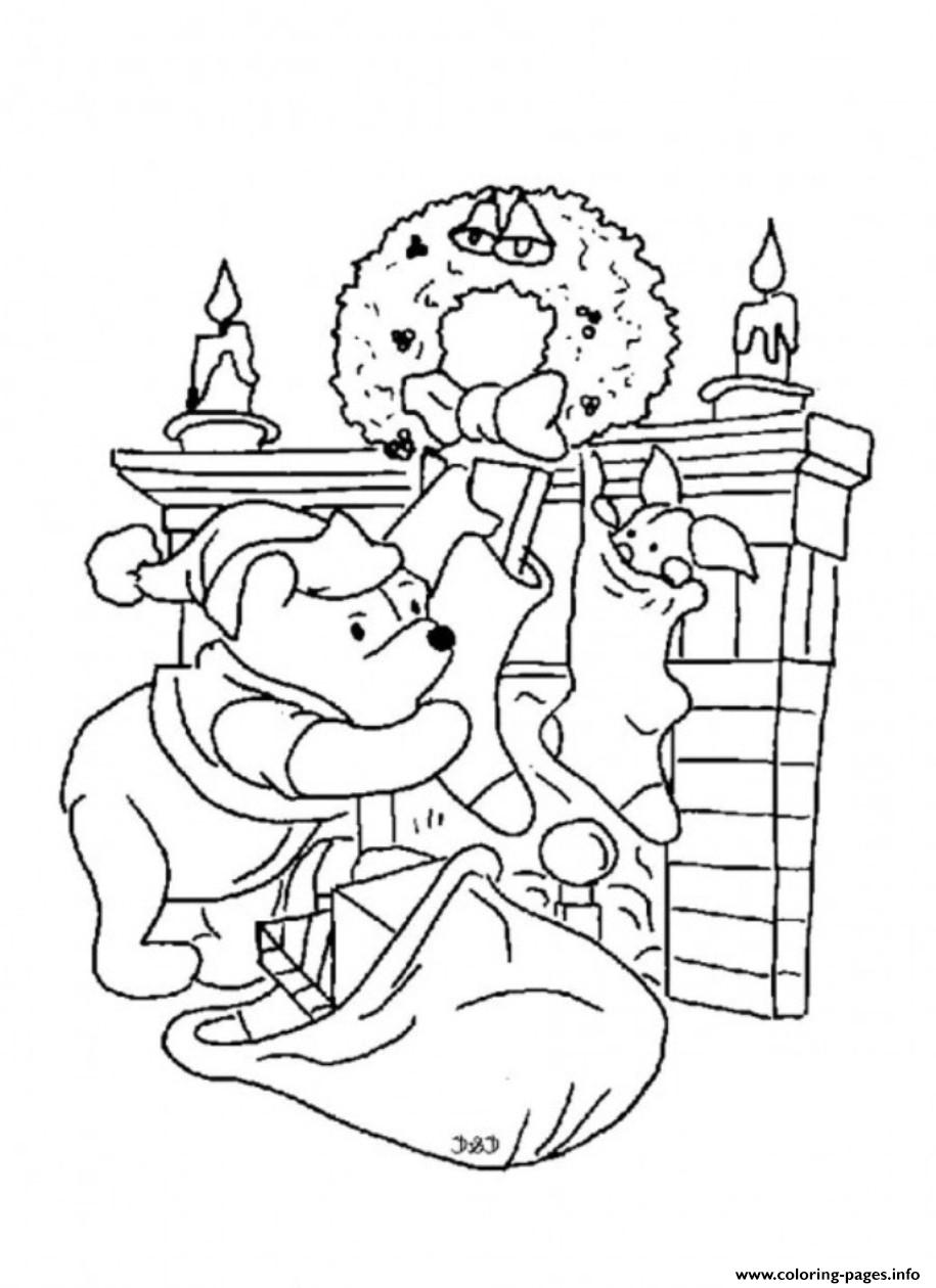 Winnie The Pooh And Piglet Christmas For Kids54c9 Coloring