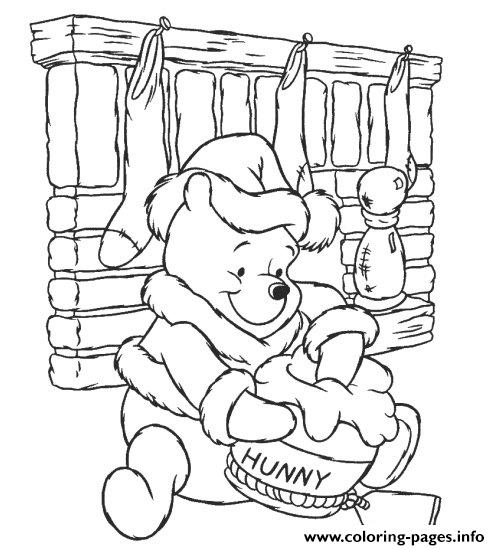 Winnie The Pooh Colouring Pages For Children Christmasa810 Coloring ...