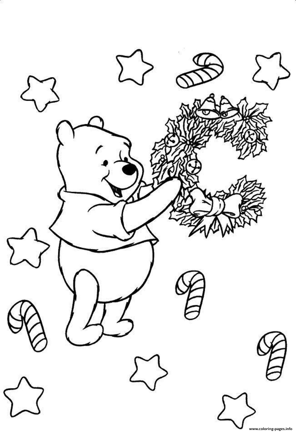 Christmas Winnie The Pooh 691d Coloring Pages Printable