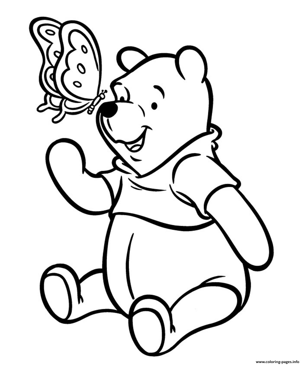Butterfly And Winnie The Pooh Sb480 coloring pages
