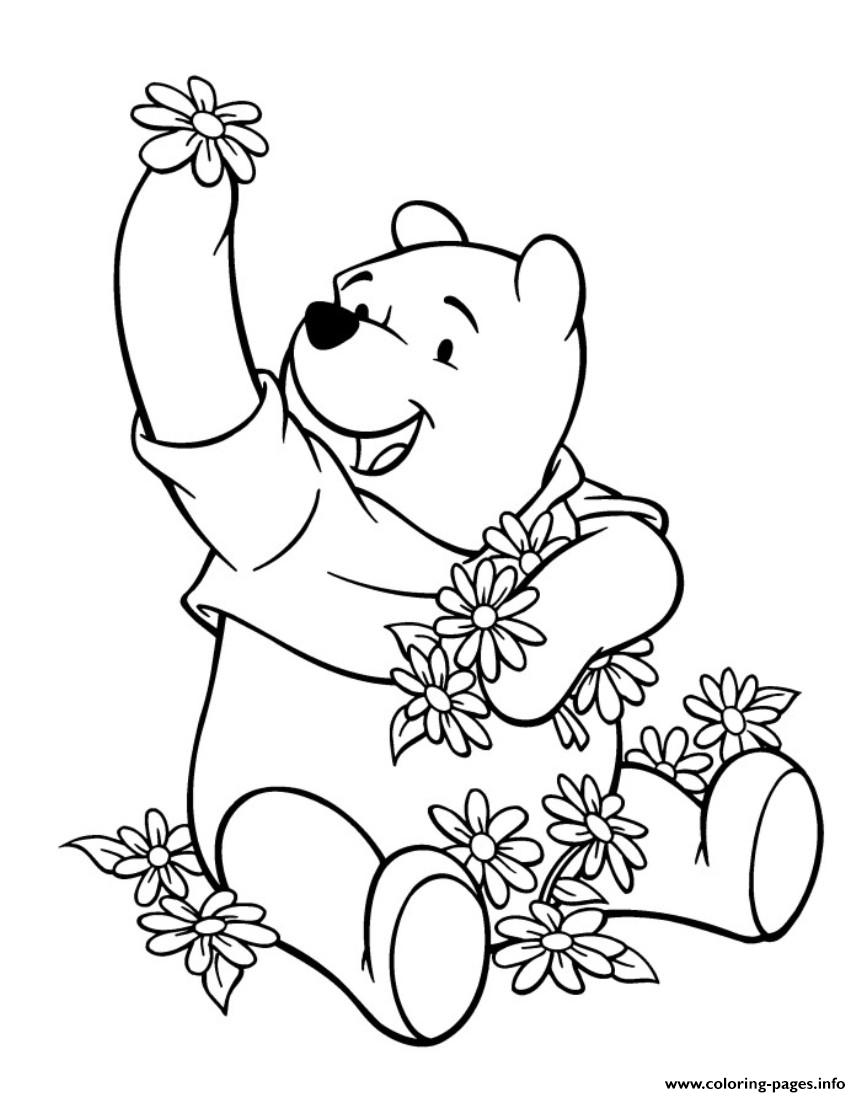 Flowers And Winnie The Pooh S80e2 Coloring Pages Printable