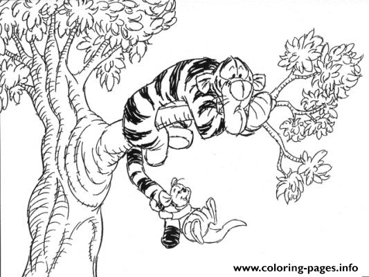 tiger on a tree winnie the pooh pages1cc0 coloring pages