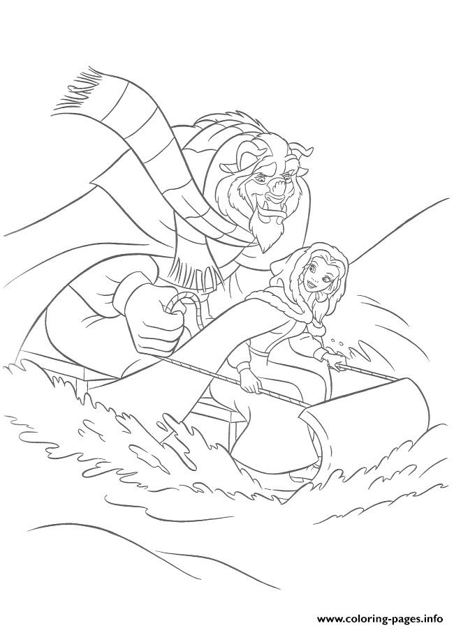 disney sledding coloring pages-#3