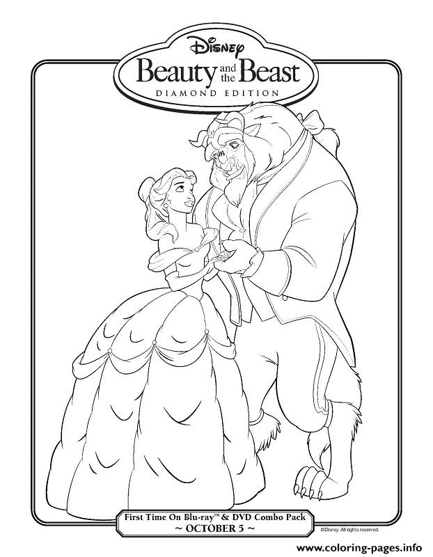 Beauty And The Beast Diamond Edition Disney Princess 4cb2 Coloring Pages