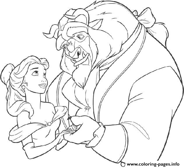 Beast Being Nice To Belle Bb06 Coloring Pages Printable