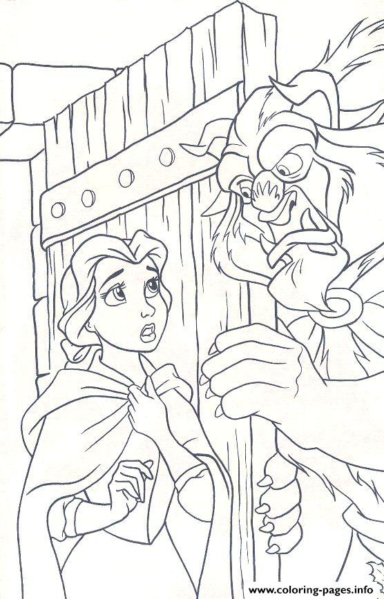 Beast Let Belle Come In Disney Princess E87b Coloring Pages