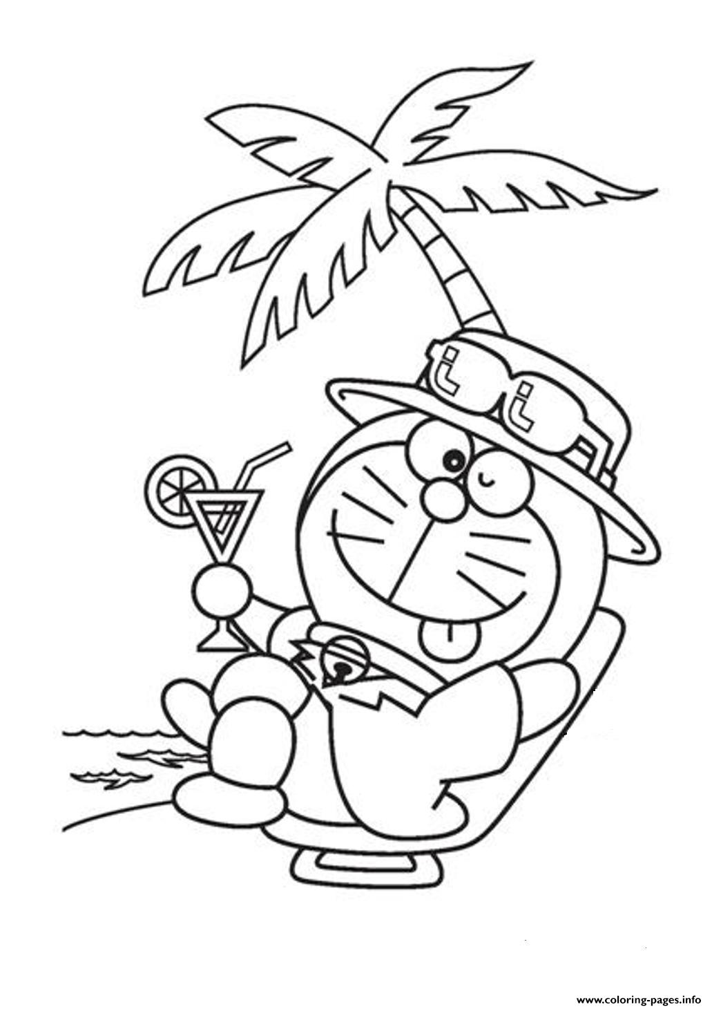 Relaxing Doraemon Cartoon Sf012 Coloring Pages