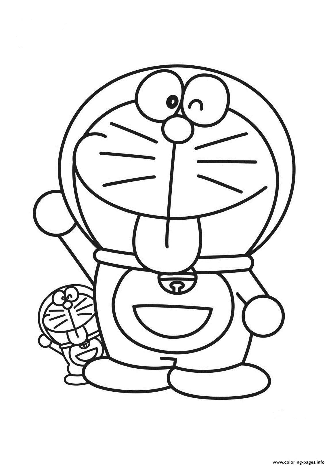 Free Doraemon Boys Aa77 coloring pages