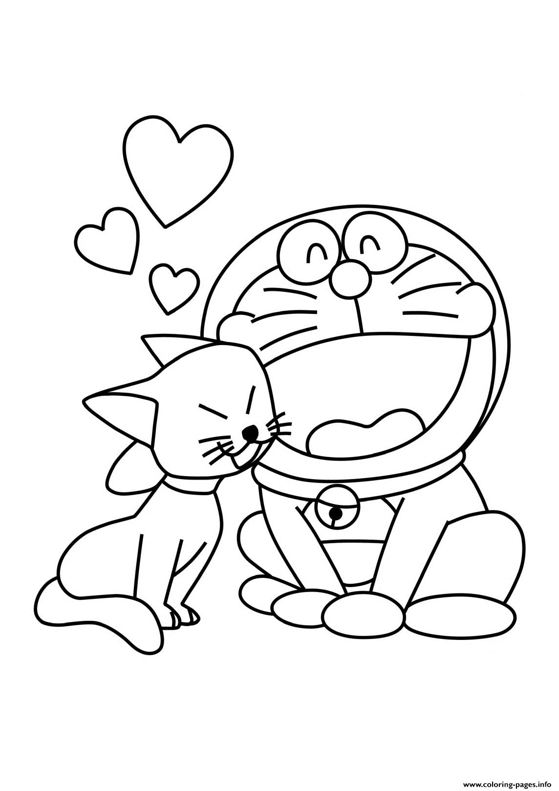 Doraemon In Love B314 Coloring