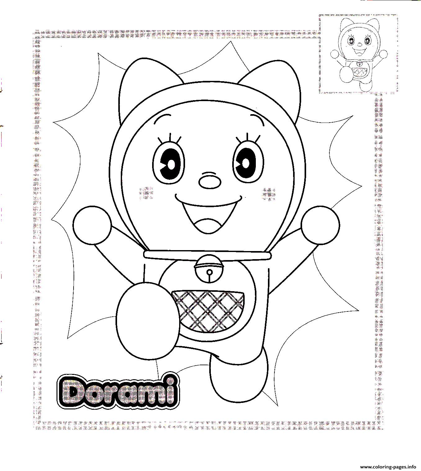 Dorami doraemon sb0b4 coloring pages printable Coloring book info