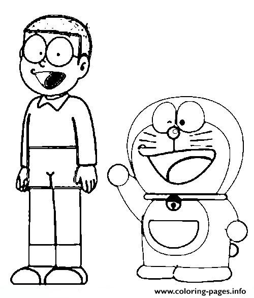 Free Nobita And Doraemon551f Coloring Pages Printable