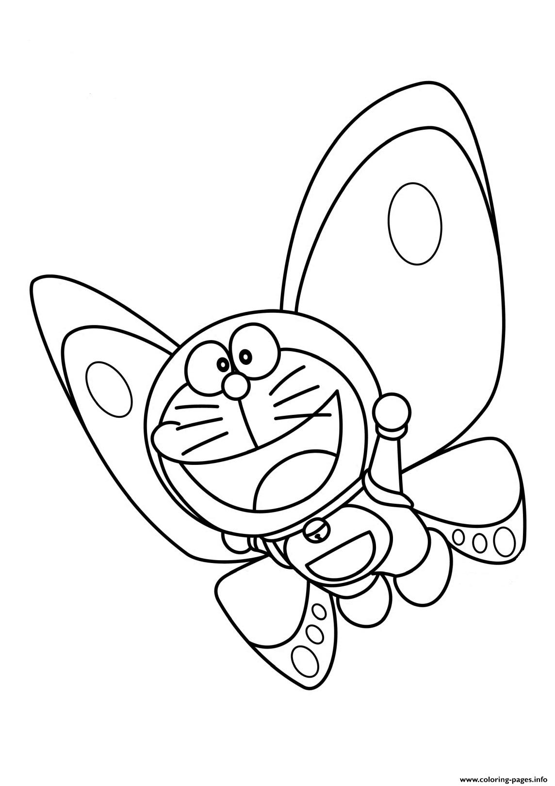 Doraemon As Butterfly C1b4 Coloring Pages