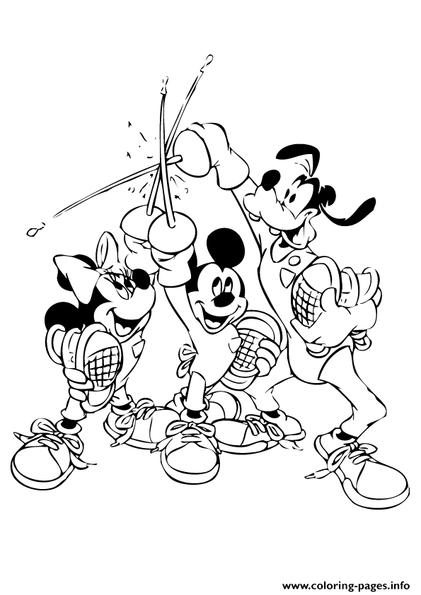 Mickey And Friends With Swords Disney E9de coloring pages