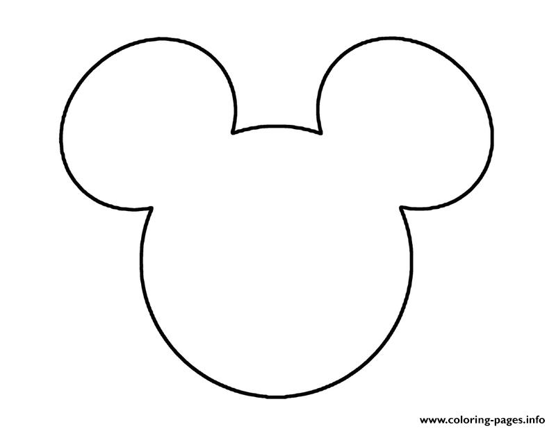 mickey logo disney 3d8c coloring pages - Mickey Coloring Pages