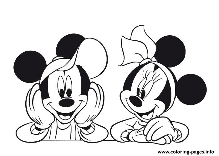 Mickey And Minnie Pose Disney 7eb1 coloring pages