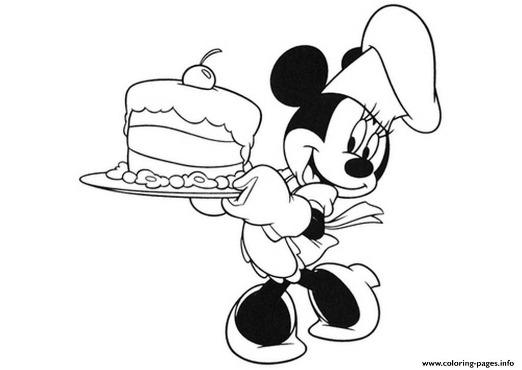 Minnie Is A Baker Disney D824 coloring pages