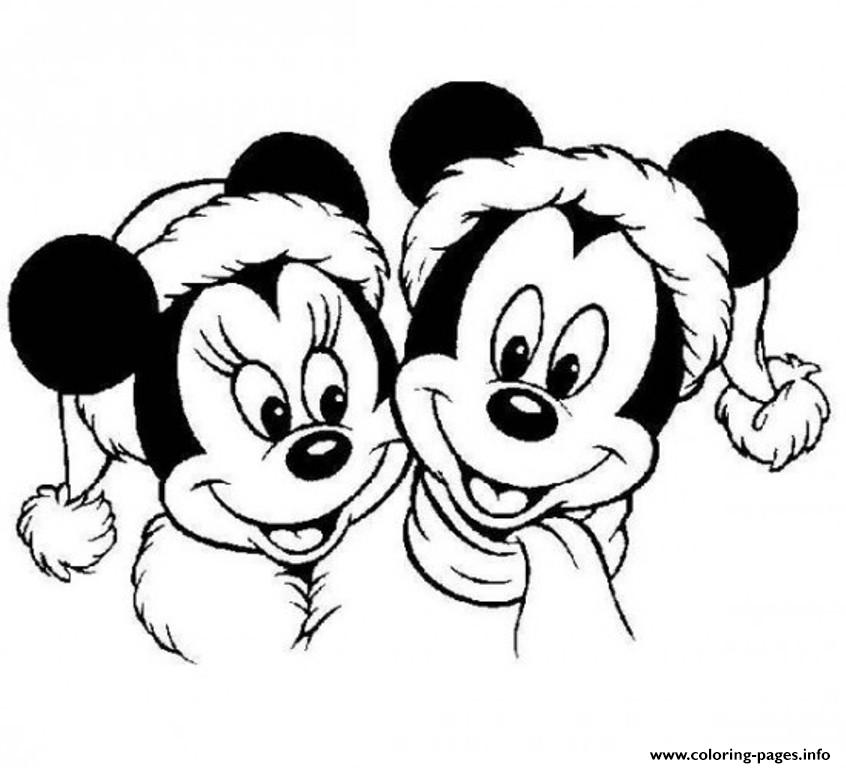 Mickey And Minnie Mouse Christmas S Printablee42c coloring pages