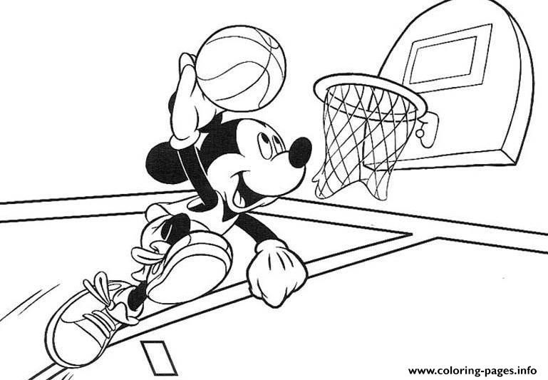 Mickey Mouse Basketball S081b Coloring Pages Printable
