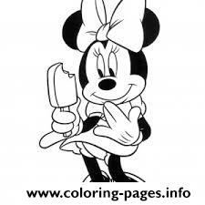 Minnie Having Popsicle Disney 09c2 coloring pages