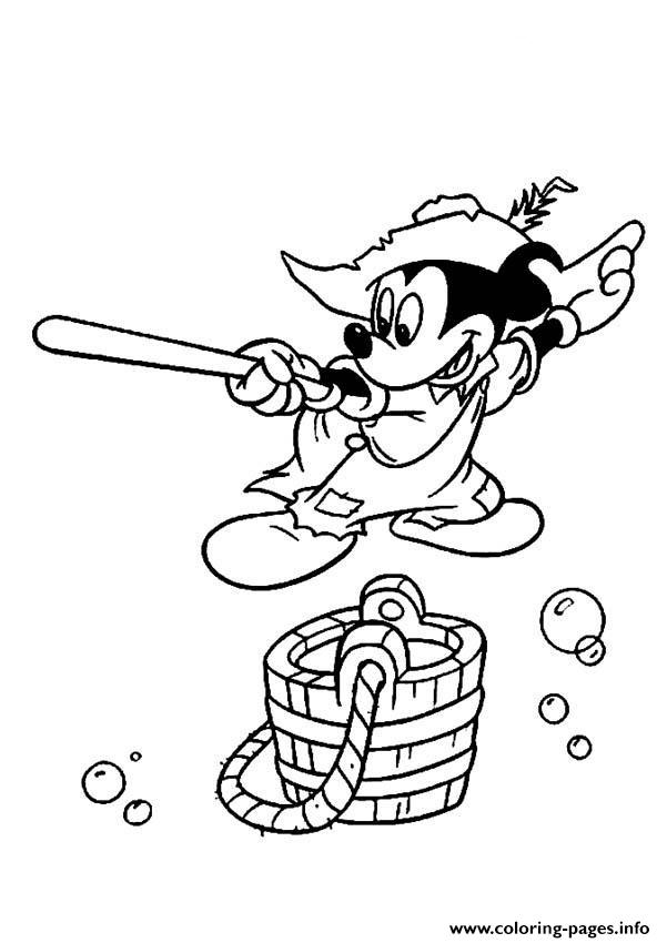 Mickey With Wooden Sword Disney 1754 coloring pages