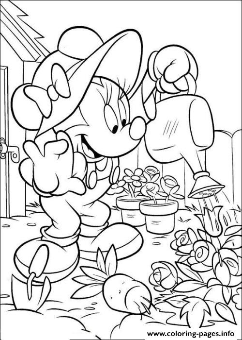 Free Minnie Gardening Disney Sd70c coloring pages
