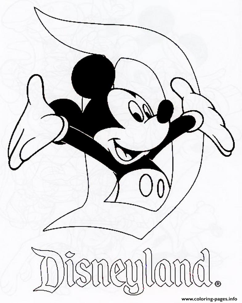 Mickey In Disneyland Disney 120e8 Coloring Pages Printable