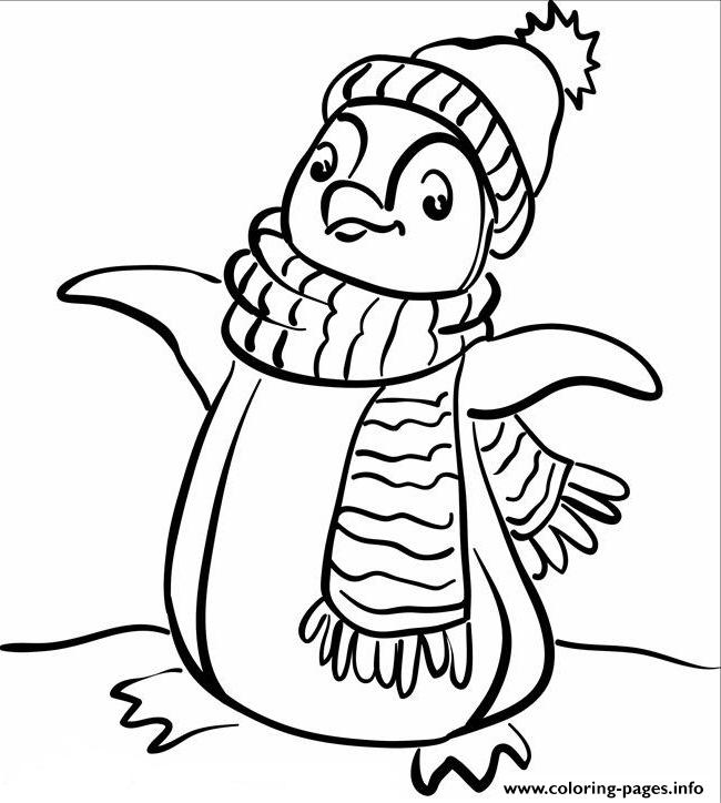 Fashionable Penguin 54cf coloring pages