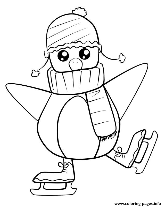 Baby Penguin Skating 33a4 coloring pages