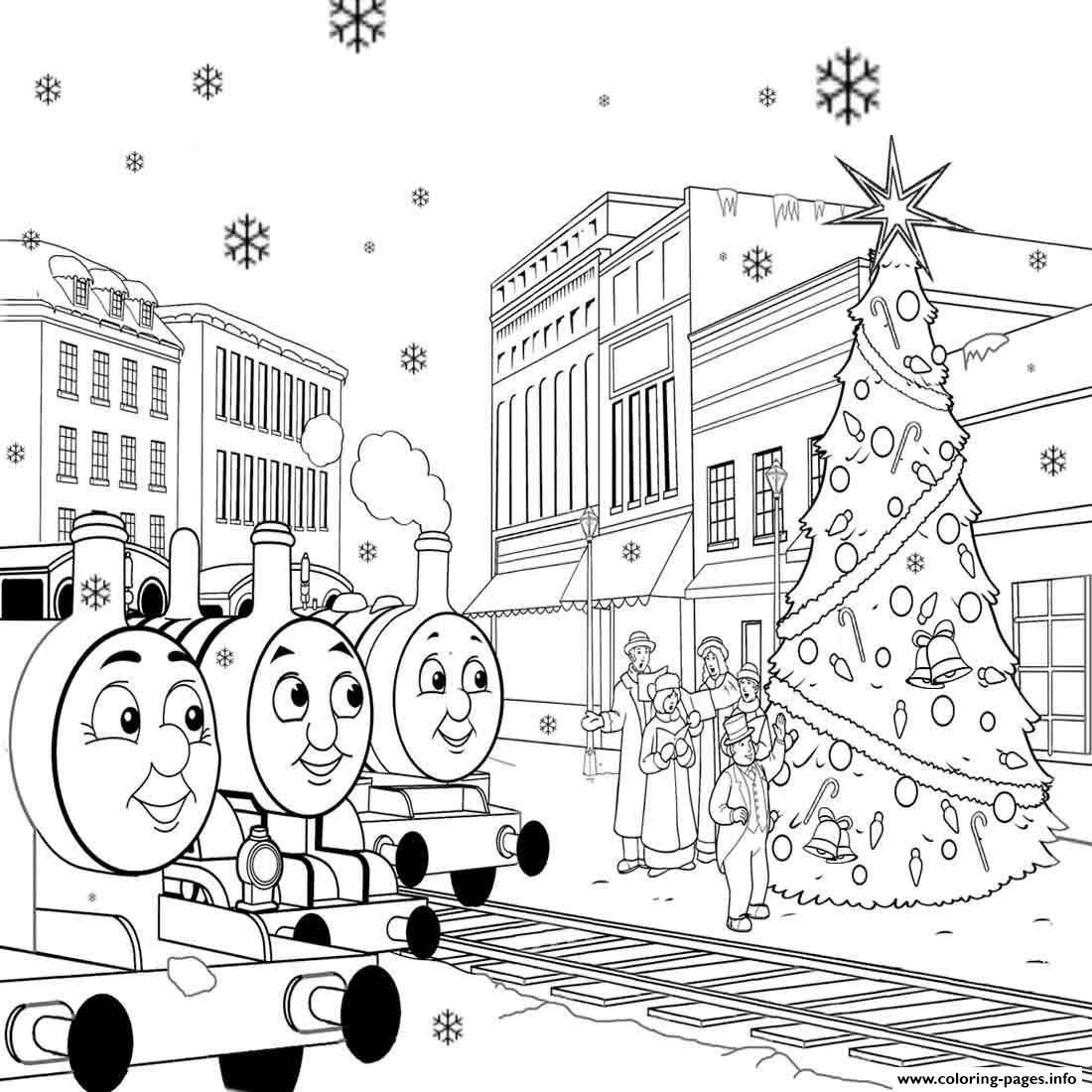 Free Printable Thomas The Train S For Kids Christmasa2de Coloring ...