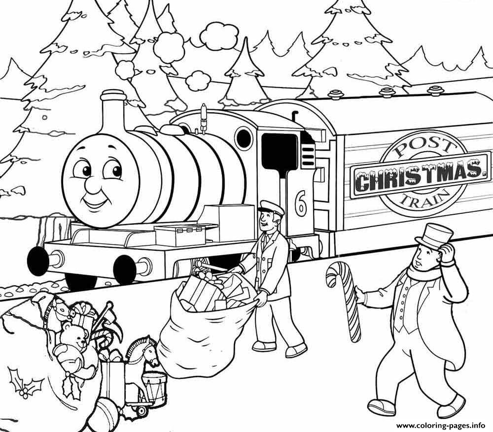 Christmas Thomas The Train S Free8351 Coloring Pages Printable